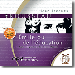 jaquette du livre audio Emile ou de l'Education